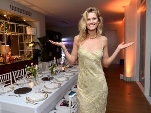 Maybe this was practice for Toni Garrn's future dinner parties at the Greenwich Lane