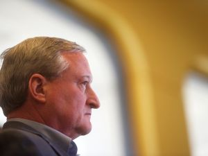 Philadelphia Mayor Jim Kenney attends a press conference on January 8, 2016 in Philadelphia, Pennsylvania. (Photo by Mark Makela/Getty Images)