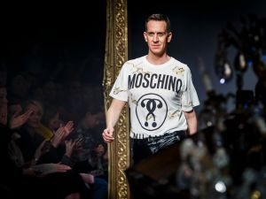 Jeremy Scott takes a bow in Moschino