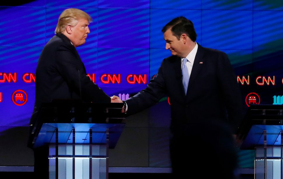 Trump and Cruz Have Two Choices: Hang Together or Hang Separately