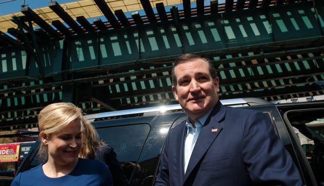 Heidi Cruz and her husband, Texas Sen. Ted Cruz, campaign in New York.