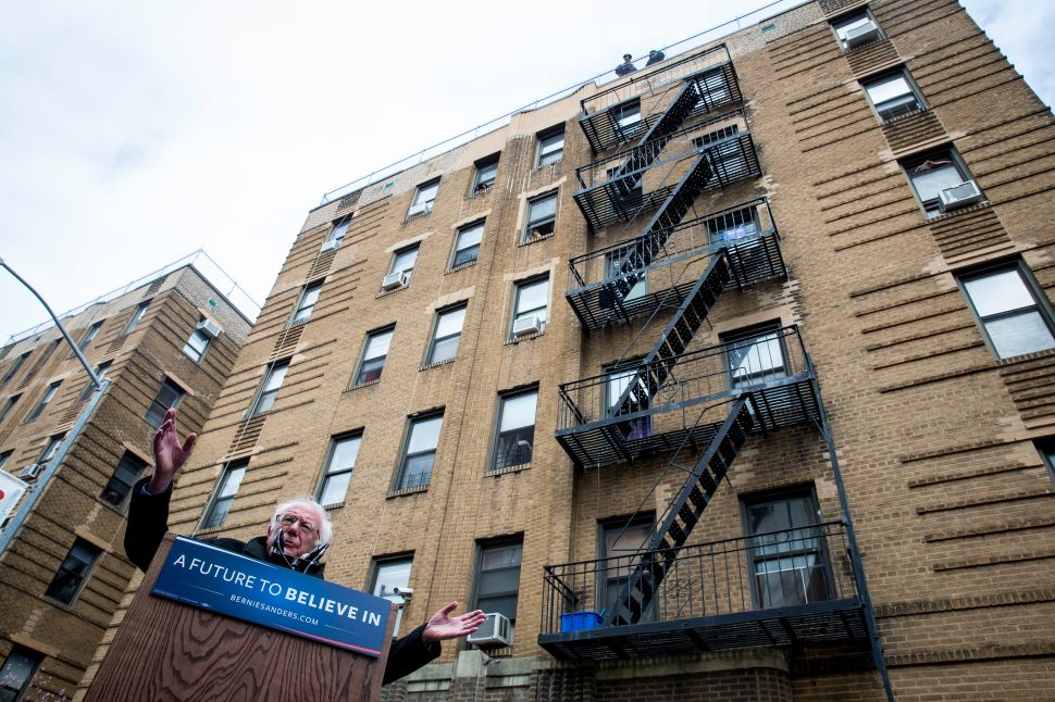 Bernie Sanders Had a Campaign Rally Outside His Childhood Apartment Building