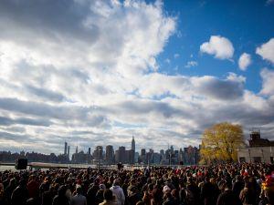 Sen. Bernie Sanders speaks in Brooklyn.