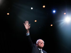 Sen. Bernie Sanders at the Apollo Theater.