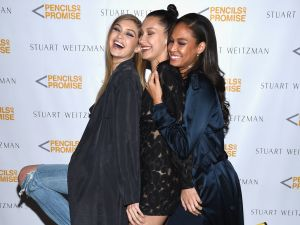 Gigi Hadid, Bella Hadid and Joan Smalls
