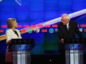 Democratic candidates Hillary Clinton and Sen. Bernie Sanders face off in Brooklyn.