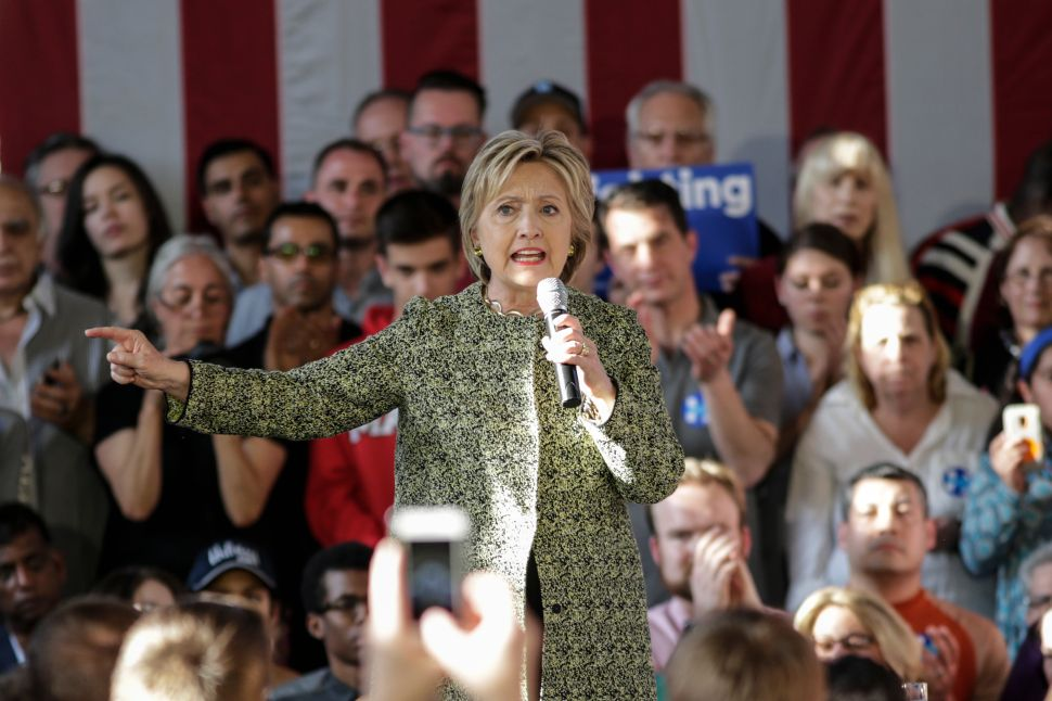 Hillary Clinton Makes A Bipartisan Appeal on Staten Island