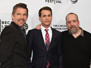Ethan Hawke, Johnny Simmons and Paul Giamatti attend The Phenom Premiere during the 2016 Tribeca Film Festival.