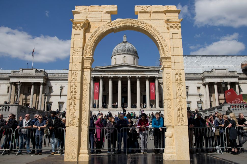 Palmyra Arch Rebuilt in London, Presidential Candidates Arts Guide—and More