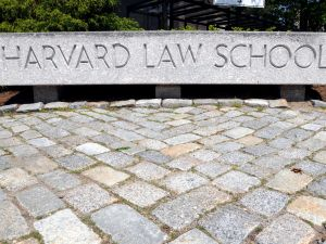 The entrance to Harvard Law School campus is seen May 10, 2010 on the Harvard University Law School Campus in Cambridge, Massachusetts. U.S. President Barack Obama announced today the nomination of Solicitor General Elena Kagan, former Harvard Law School Dean from 2003-2009, to the Supreme Court succeeding retiring Justice John Paul Stevens.