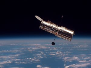 The Hubble Space Telescope.