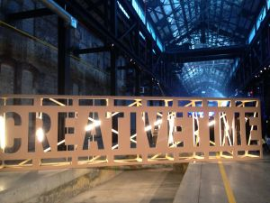 Creative Time gala at the Brooklyn Navy Yard.