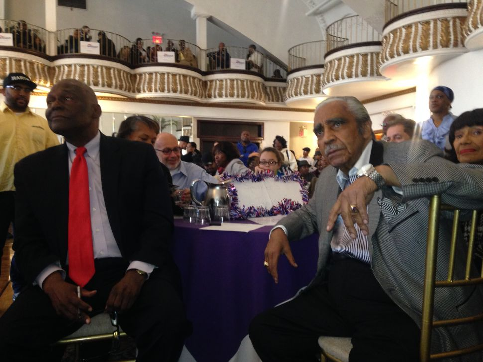 Charles Rangel Rips Into Favored Successor's Rivals at Official Endorsement Powwow