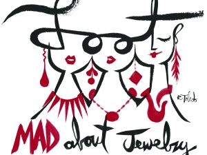 LOOT: MAD About Jewelry Logo by Ruben Toledo
