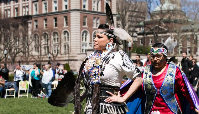 """Jingle Dress"" or ""Medicine"" Dancer Columbia University-Morningside Campus: South Lawn East: 2970 Broadway, New York City, NY"