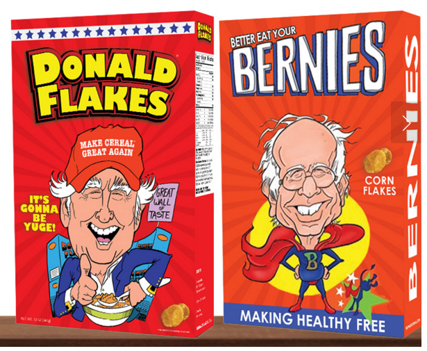 These Bernie Sanders and Donald Trump Cereals Are Your Next Go-To Breakfast Food