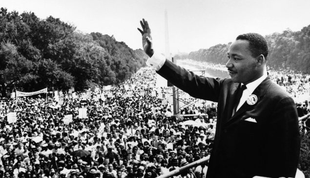 Martin Luther King Jr. at the March on Washington.
