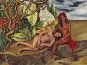 Frida Jahlo's Dos desnunos en el bosque