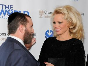 Pamela Anderson at the 4th Annual Champions of Jewish Values International Awards Gala.