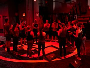 A fiery circle of hell, or a casual workout?