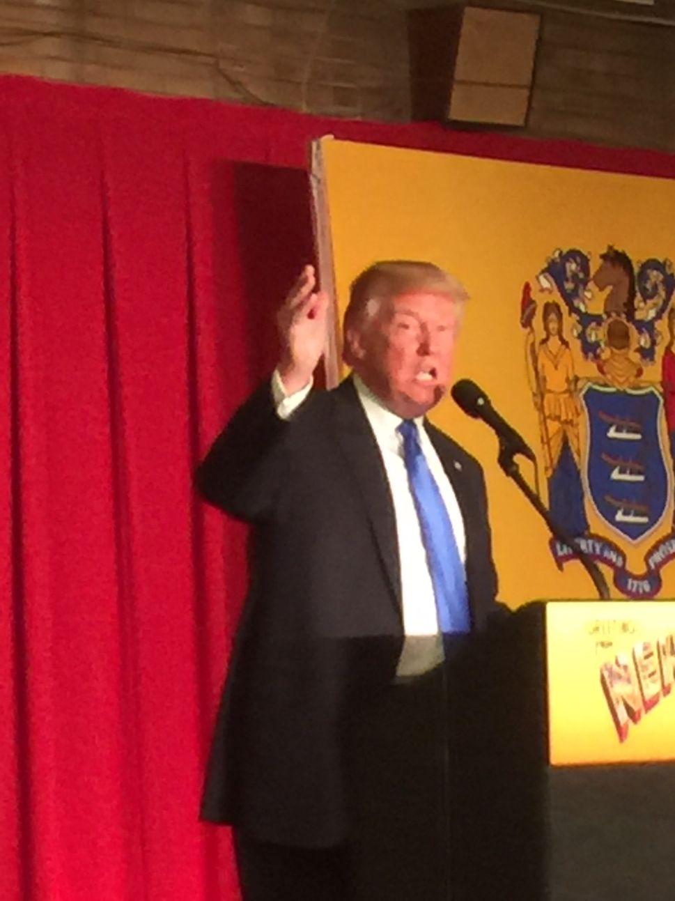 Trump Joins Christie for GOP Rally in Lawrenceville