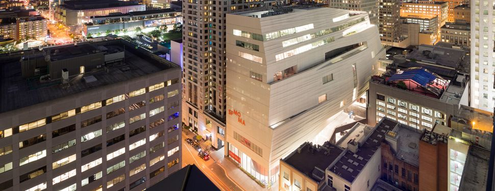 Snøhetta's new SFMOMA expansion in the SOMA district.