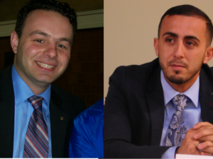 Sayegh (left) and Abdelaziz.