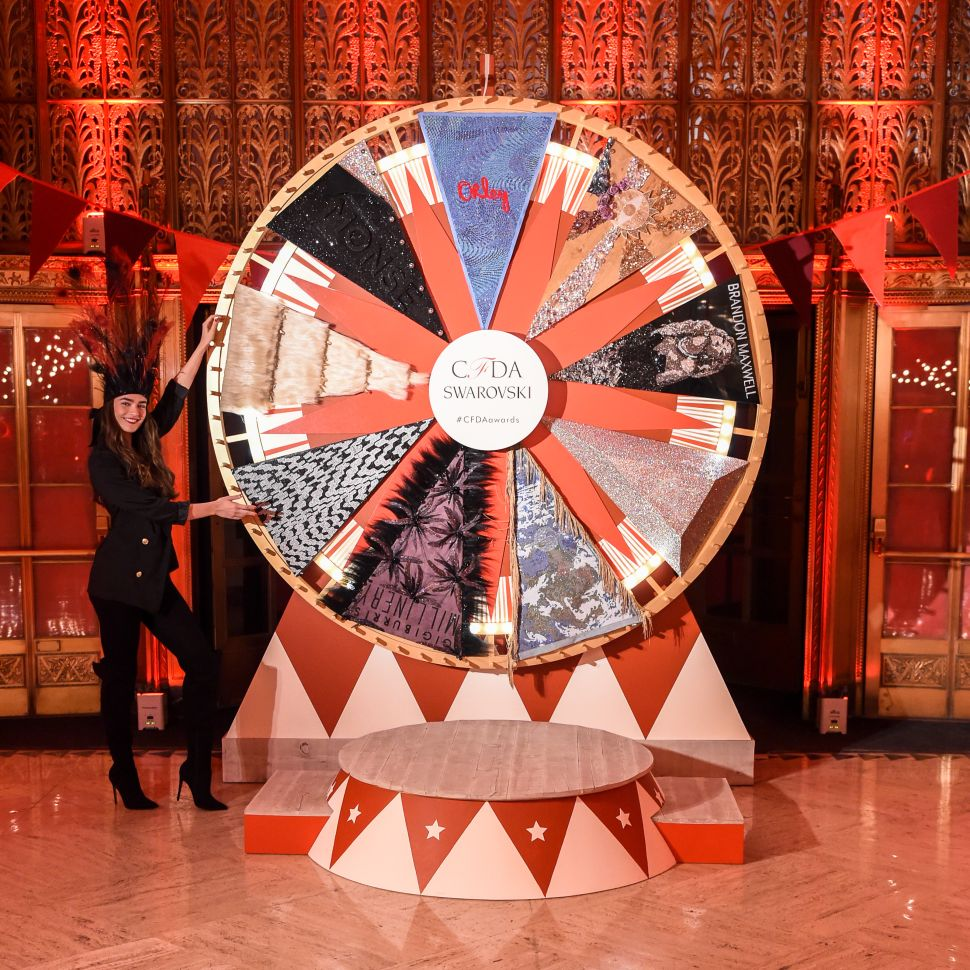 Swarovski Celebrated the CFDA Nominees With Crystal Banners and Fortune Tellers