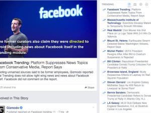 Facebook is trending on Facebook.
