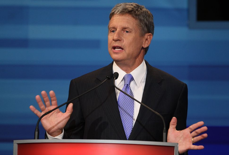 A Very Good Day for Gary Johnson