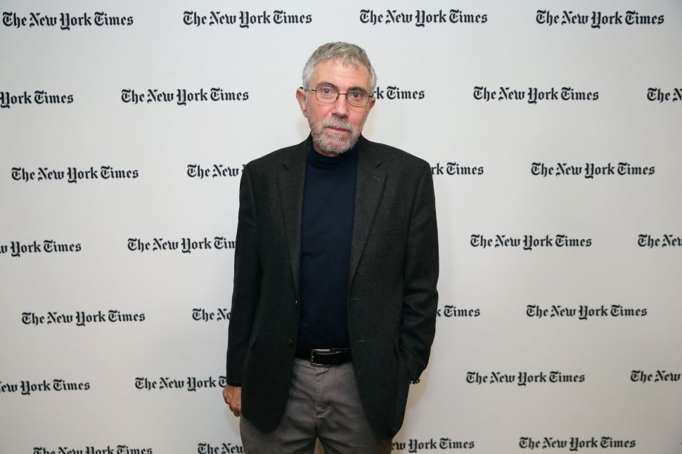 Krugman Fail: New York Times Clinton Puppet Gets It Wrong Again