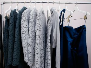 A rack of clothes, which could always be customized, from Katie Ermilio