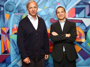 American businessman and founder of the investment firm Bridgewater Associates, Ray Dalio, visits LinkedIn for an interview with Executive Editor at LinkedIn, Daniel Roth at LinkedIn Studios on April 8, 2016 in New York City.