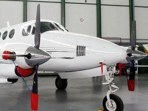 MARBELLA, SPAIN: A picture of a plane that was impounded in connection with an alleged money-laundering bust in Marbella, southern Spain 12 March 2005. The head of a law firm in the Spanish coastal resort of Marbella appeared before a judge for questioning about his alleged role in a huge international money laundering network smashed the previous day, media reports said. The lawyer, Fernando Del Valle, is suspected by police to be the architect of a racket on Spain's southern Costa del Sol worth some 250 million euros (337 million dollars). Police arrested 41 people from six countries in connection with the affair Friday following a ten-month investigation and cooperation from police around Europe.