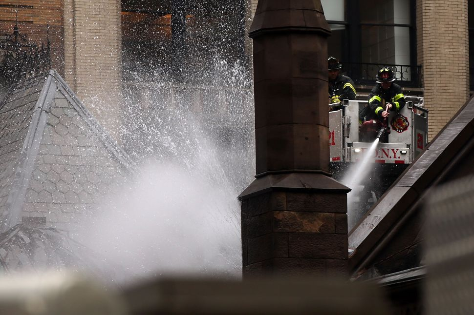 Afternoon Bulletin: Fire Sweeps Historic Church, NYC Sends 1M Condoms to Puerto Rico