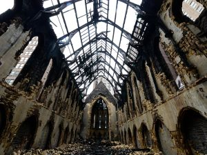 The remains of the St. Sava cathedral