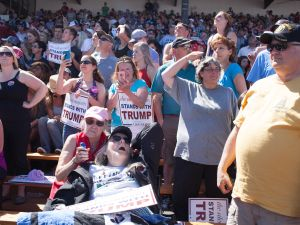 Trump supporters at a rally in Washington State.