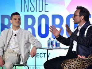 Rami Malek and Christian Slater speak at the Inside Mr. Robot panel at the Vulture Festival.