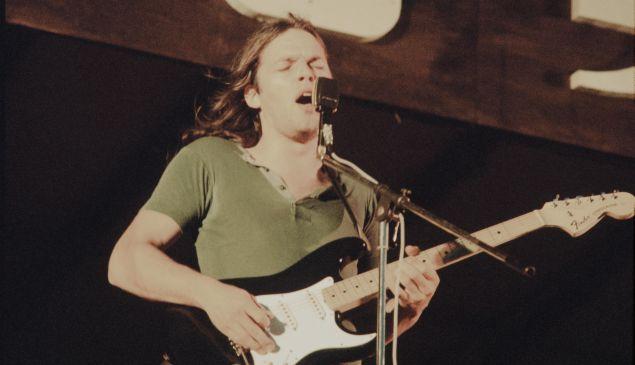 David Gilmour Pink Floyd playing at Hakone Aphrodite, Kanagawa, August 6, 1971.