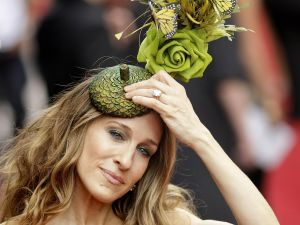 Sarah Jessica Parker in a Philip Treacy creation