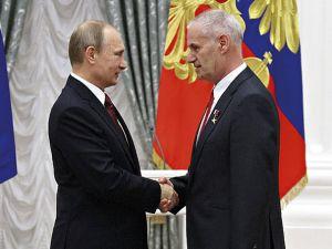 Vladimir Putin and Yury Solomonov.