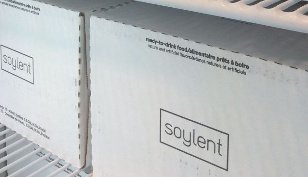 Soylent, in its case at Frieze New York.