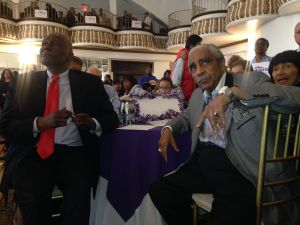 Assemblyman Keith Wright, left, with Congressman Charles Rangel.