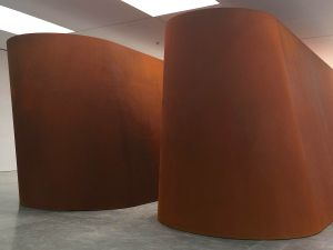 Richard Serra's NJ-1, 2015, at the Gagosian gallery on 21st Street in Chelsea.