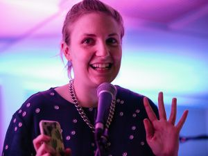 Lena Dunham performing at Happy Endings.