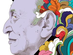 Milton Glaser, 86, is responsible for the I love NY logo.
