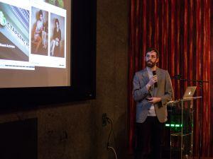Tim Farnam presents Codex Press at the Made in NY Media Center in Dumbo.