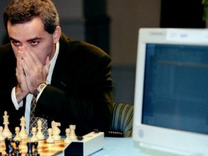 Deep Blue takes on Garry Kasparov.