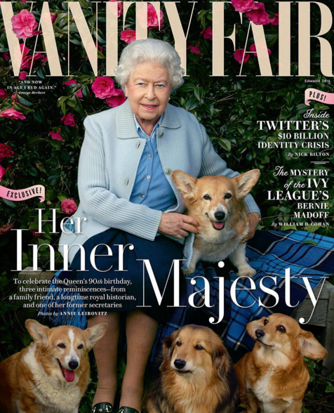 The Queen Posed With Her Pups for Vanity Fair
