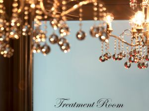 One of four treatments rooms at the jewel-boxed sized spa at The Carlyle Hotel.
